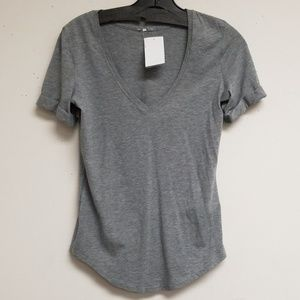 Lululemon Athletica Gray V-neck Top